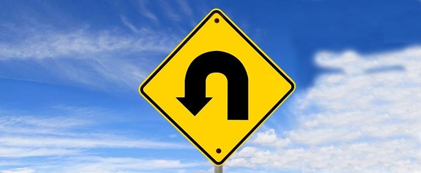 U turn sign v2