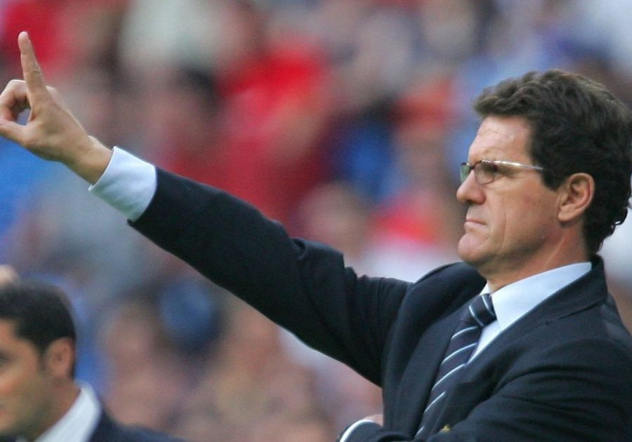 MADRID, SPAIN - MAY 12:  Real Madrid manager Fabio Capello shouts at his team beside Espanyol manager Ernesto Valverde during the Primera Liga match between Real Madrid and Espanyol at the Santiago Bernabeu stadium on May 12, 2007 in Madrid, Spain.  (Photo by Denis Doyle/Getty Images) *** Local Caption *** Fabio Capello;Ernesto Valverde